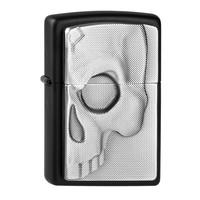 Lighter Zippo Half Skull Emblem