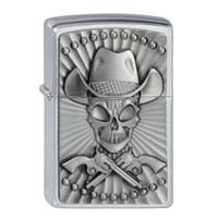 Lighter Zippo Cowboy Skull Emblem