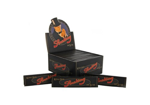 Smoking Kingsize Deluxe Black Rolling Paper Box