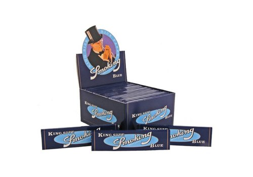 Smoking Kingsize Blue Rolling Paper Box