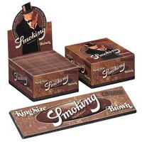 Smoking Kingsize Brown Rolling Paper Box