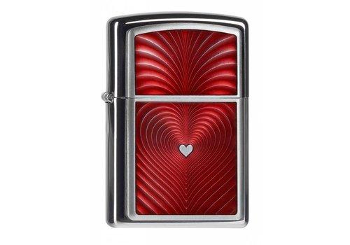 Lighter Zippo Red Heart 3D