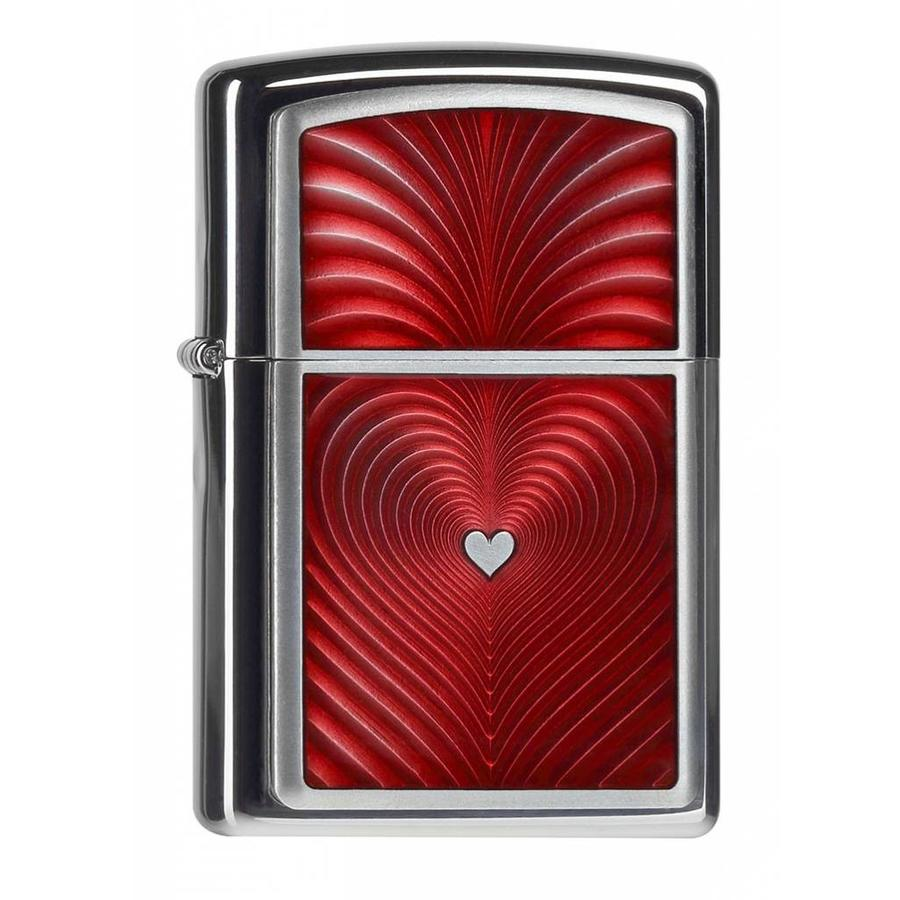 Lighter Zippo Red Heart 3D