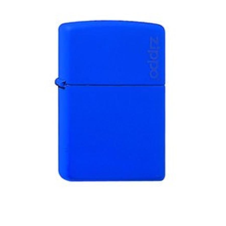 Lighter Zippo Royal Blue Matte with Logo