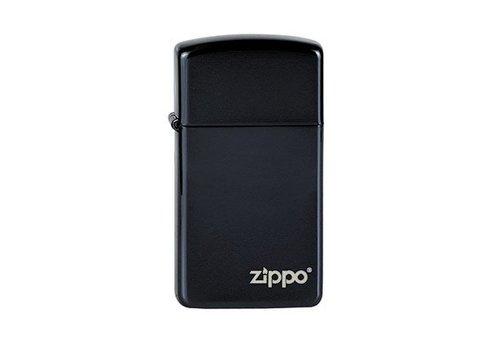 Lighter Zippo Slim Ebony with Zippo Logo