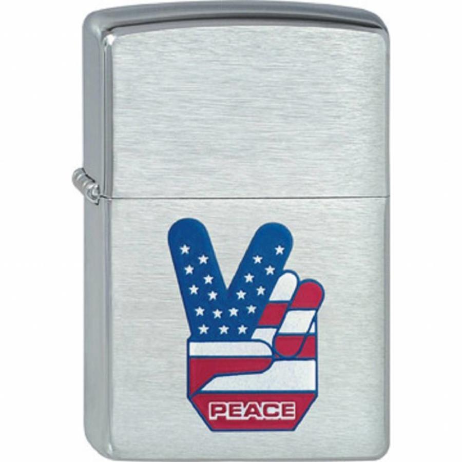 Lighter Zippo Peace Flag