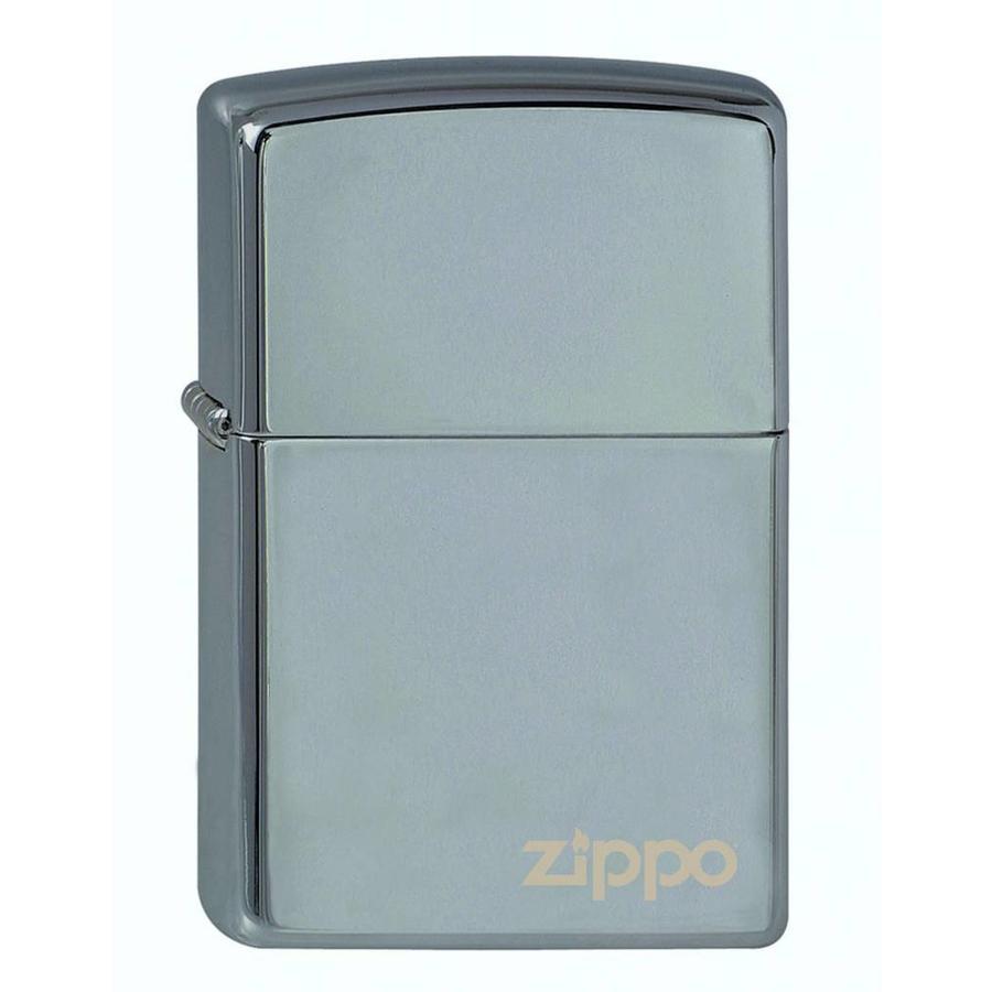 Aansteker Zippo Black Ice with Zippo Logo