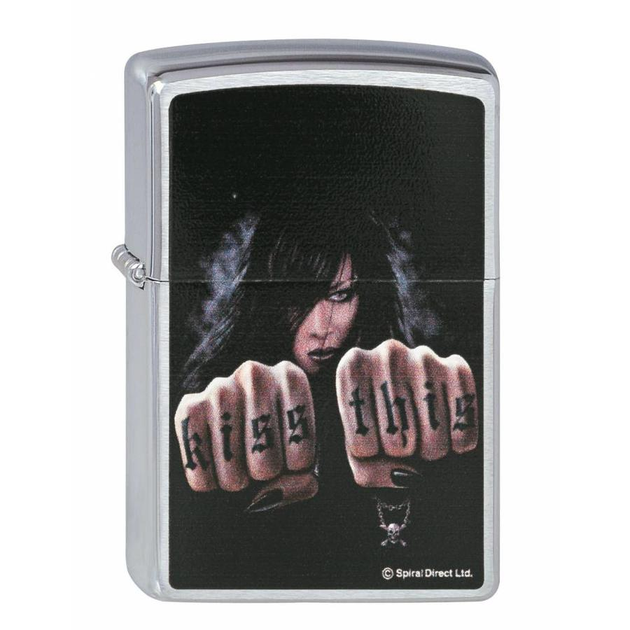 Aansteker Zippo Spiral Direct Collection Kiss This