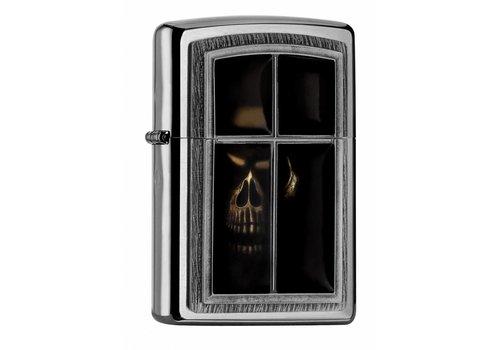 Lighter Zippo Anne Stokes Window Skull