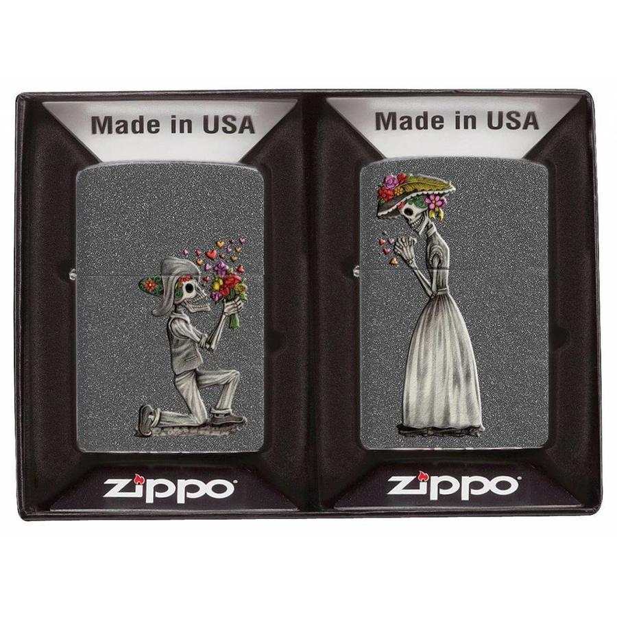 Aanstekers Zippo Day of Dead Skulls Set