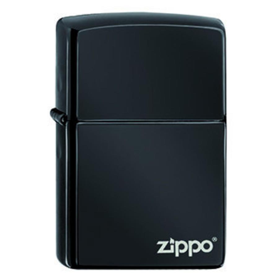 Aansteker Zippo Ebony with Logo