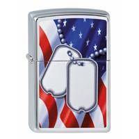 Lighter Zippo Flag and Dog Tags