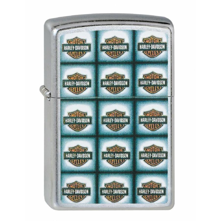 Lighter Zippo Harley Davidson Bar Shield Repeated