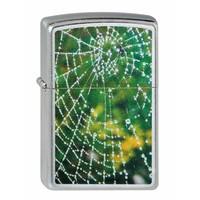 Lighter Zippo Spider Web Rain Drops