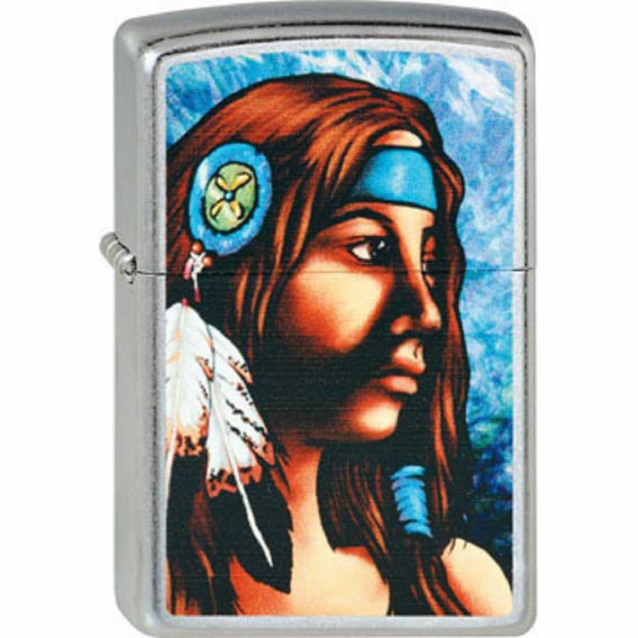Lighter Zippo Native American Girl