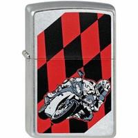 Aansteker Zippo Moto Flag Red & Black