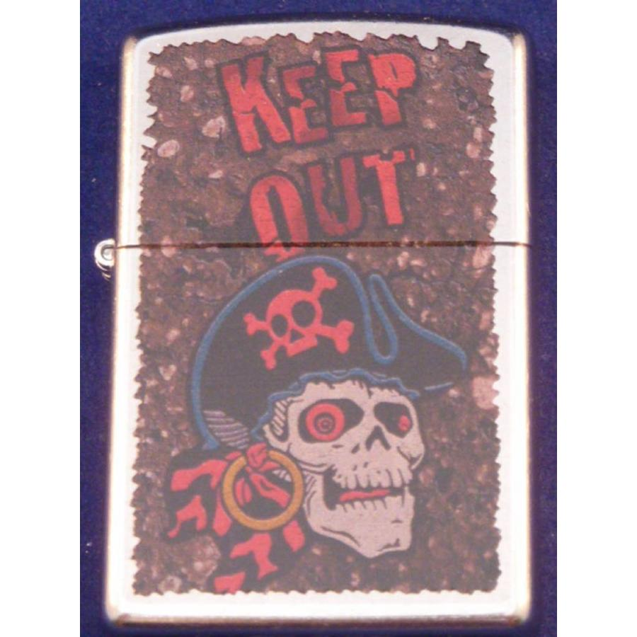 Lighter Zippo Keep Out Pirate Skull