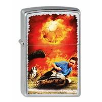 Lighter Zippo Soccer on Fire