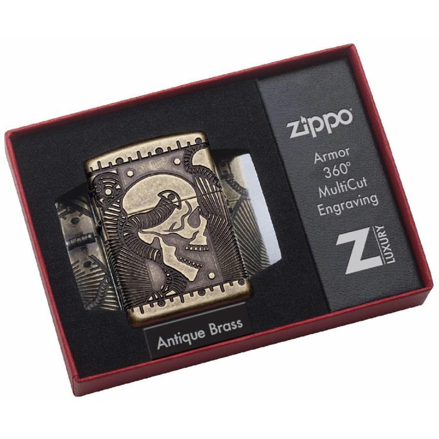 Aansteker Zippo Armor Case Skull Multi Cut