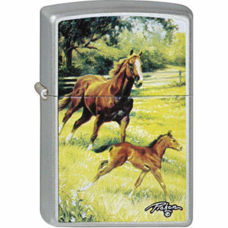 Lighter Zippo Linda Picken Running Horses
