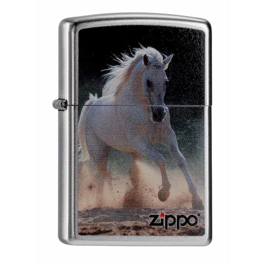 Aansteker Zippo White Horse Galloping