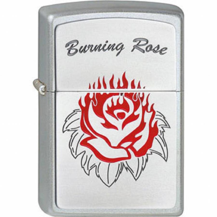 Lighter Zippo Burning Rose