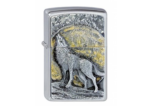 Aansteker Zippo Wolf at Moonlight