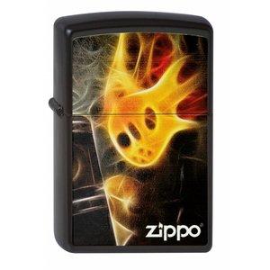Zippo Lighter Zippo Flaming Guitar