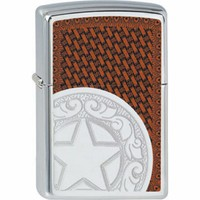 Lighter Zippo Western Star Leather