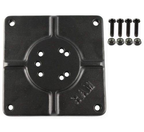 "RAM Mount 6"" X 6"" BASE PLATE WITH 11 HOLES RAM-255U"