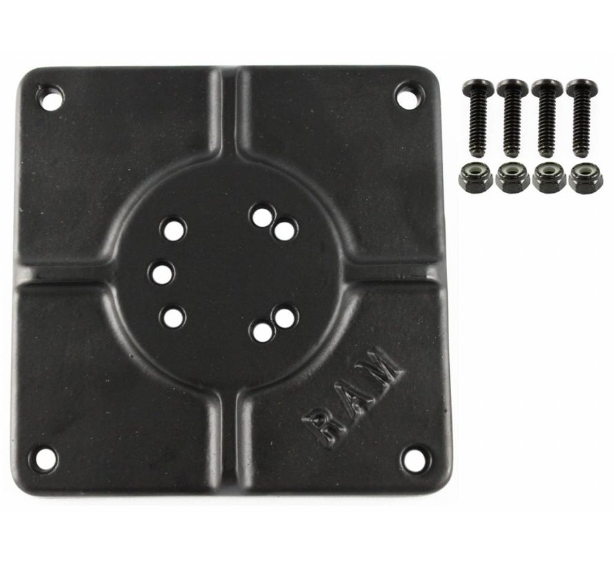 "6"" X 6"" BASE PLATE WITH 11 HOLES RAM-255U"
