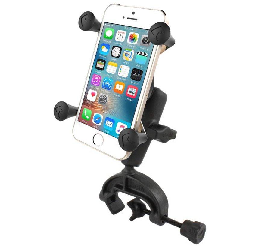 Buisklemhouder composiet met X-Grip houder smartphone set