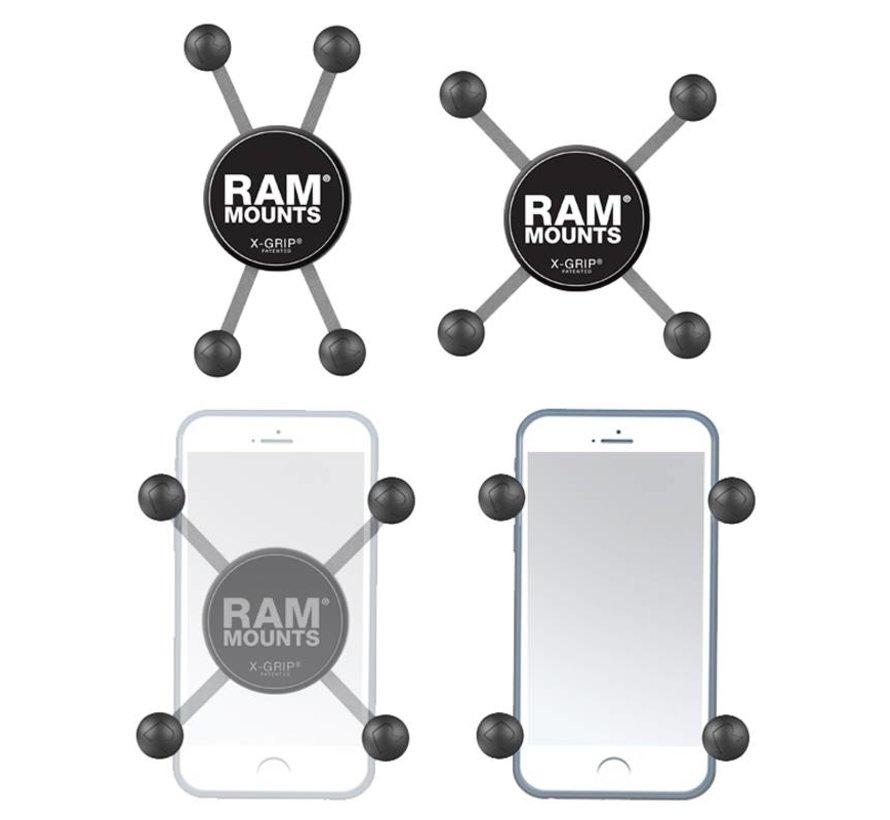 Raamklem composiet met X-Grip houder smartphone set