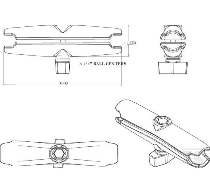 montage klemarm B met Pin-Lock™ RAM-B-201-SU