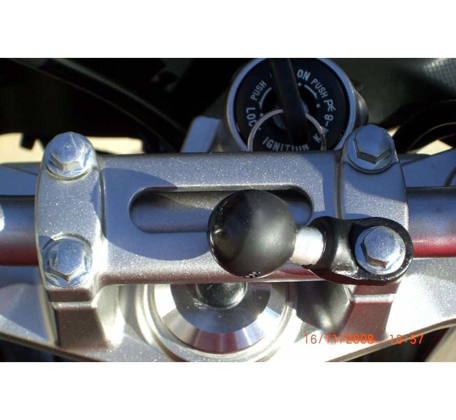 "Motorcycle Base montageset with 9mm Hole and 1"" Ball"