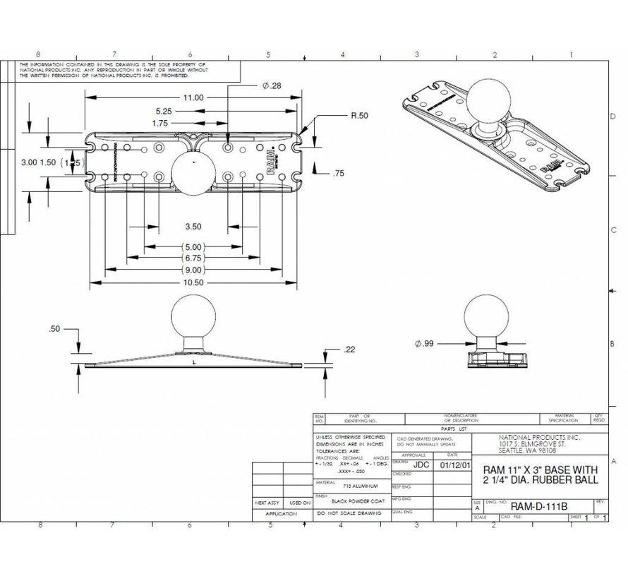 Electronica Base met D-Kogel RAM-D-111BU