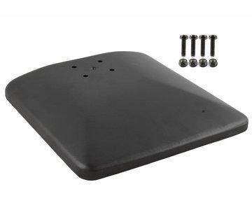 RAM Mount Vierkante aluminium voetplaat met AMPS gaten RAM-251-1SA