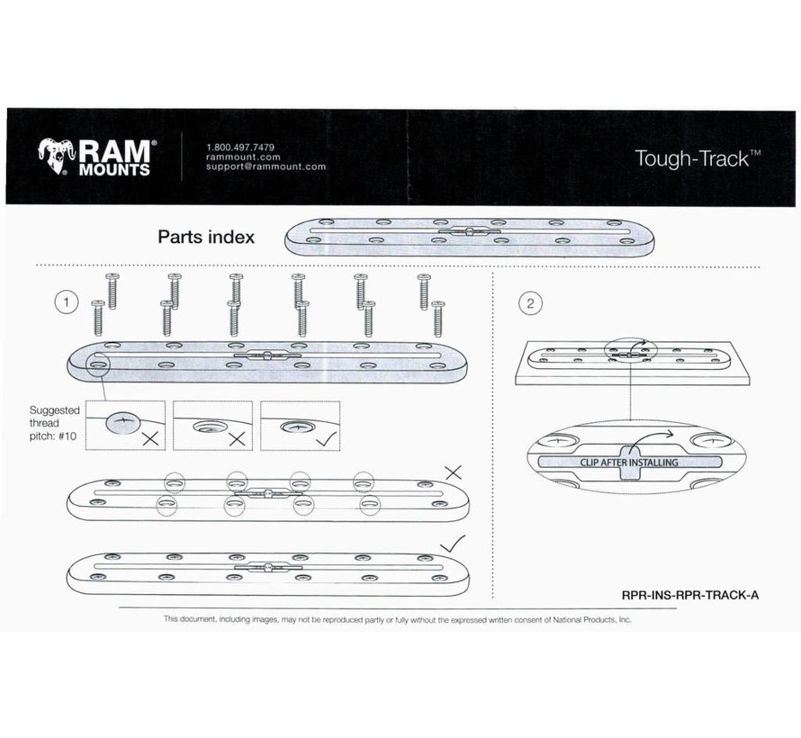 Tough-Track™ Composiet Rail 400 mm RAP-TRACK-A16U