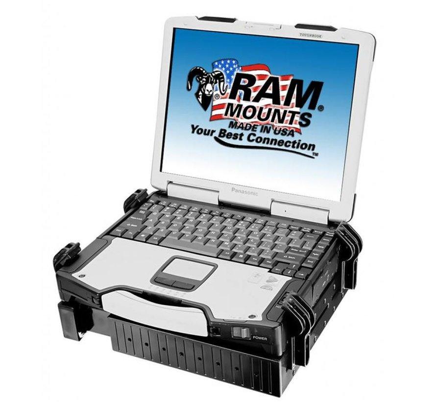 Vertical Drill-down Double Swingarm laptop RAM-VBD-181-SW1