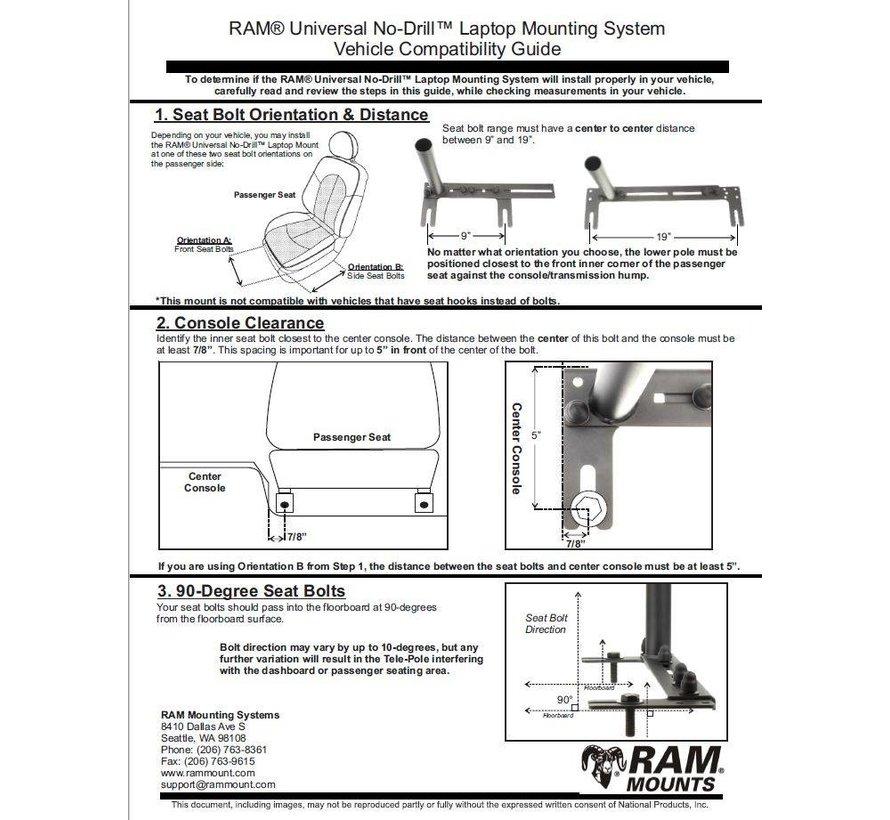 Universal No-Drill™ iPad 9.7 X-Grip ROTO RAM-VB-196-SW1-UN9-KEY1