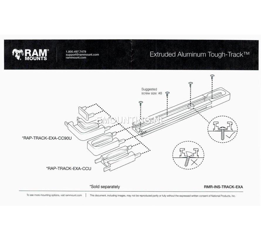 Tough-Track™ Aluminium Rail 230 mm RAM-TRACK-EXA-9u