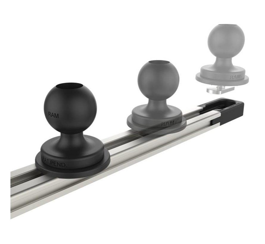 Tough-Track™ Aluminium Rail 432 mm RAM-TRACK-EXA-17U