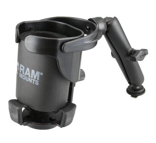 RAM Mount Balancerende drankhouder XL- Level Cup™ XL met Track-ball RAM-B-417B-C-354-TRA1
