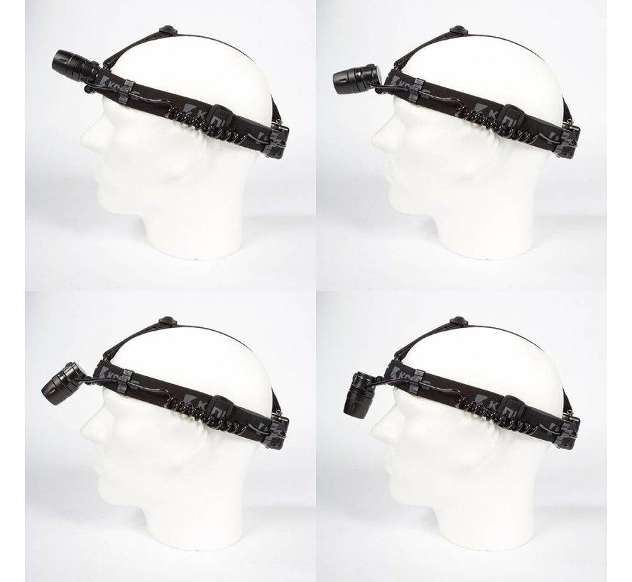 Hoofdlamp 3 W 1 LED Zwart
