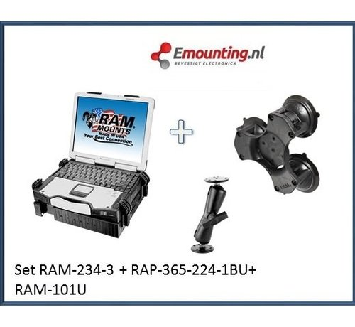 RAM Mount Laptop Triple suction set truck