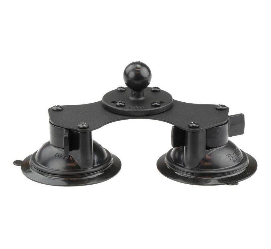 Double 8.5 cm Suction Cup Base met B-kogel