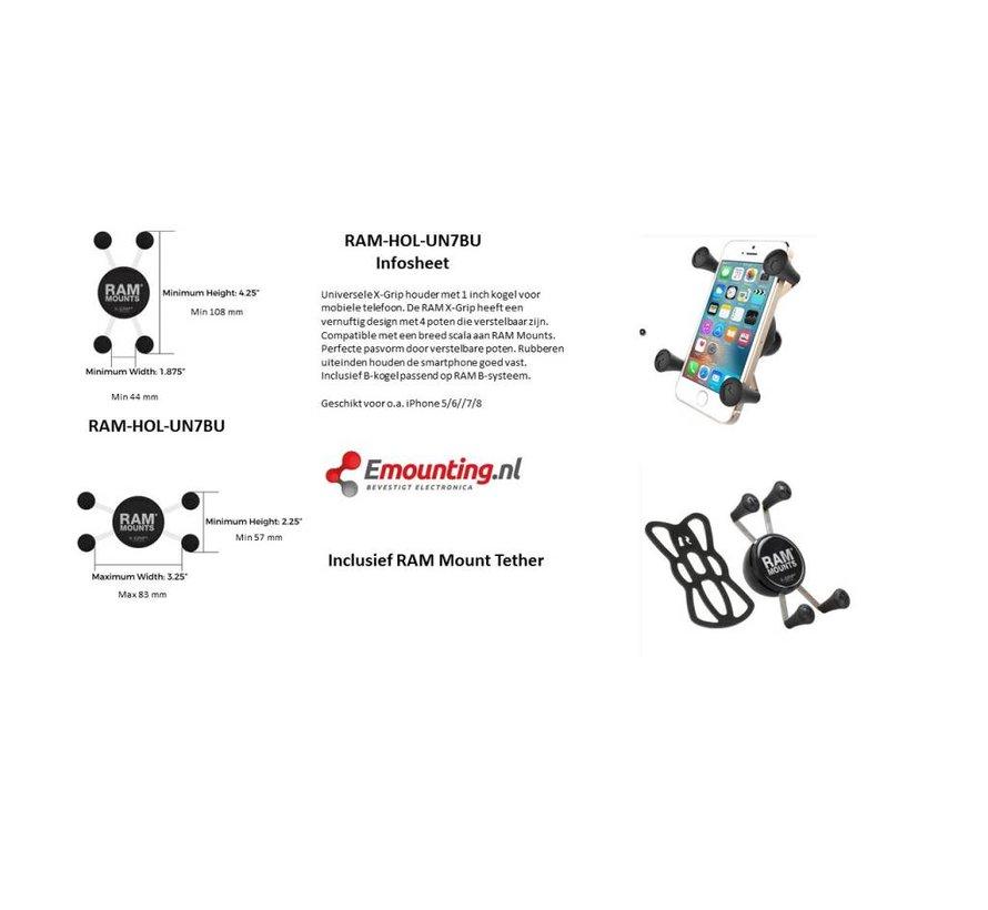 Balhoofdsteun Smartphone X-Grip set