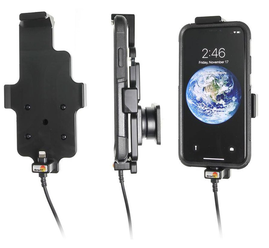 houder Apple iPhone X (met Lightning USB kabel)