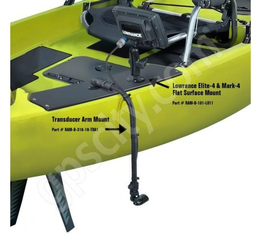 Transducer HydroWave™ Speaker Mount flexible arm montage