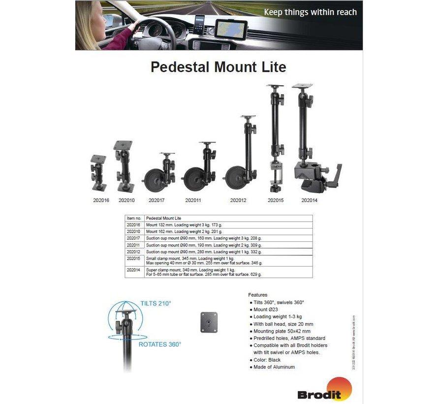 Pedestal Mount Lite Suction cup mount Kort 160mm